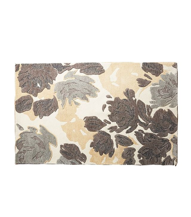 Anthropologie Rose Relief Rug