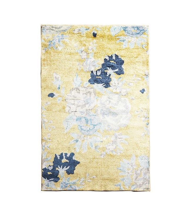 Anthropologie Floral Needlepoint Rug