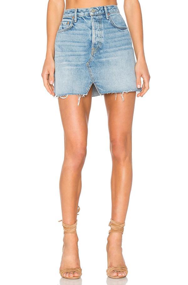 x REVOLVE Milla Denim Mini Skirt