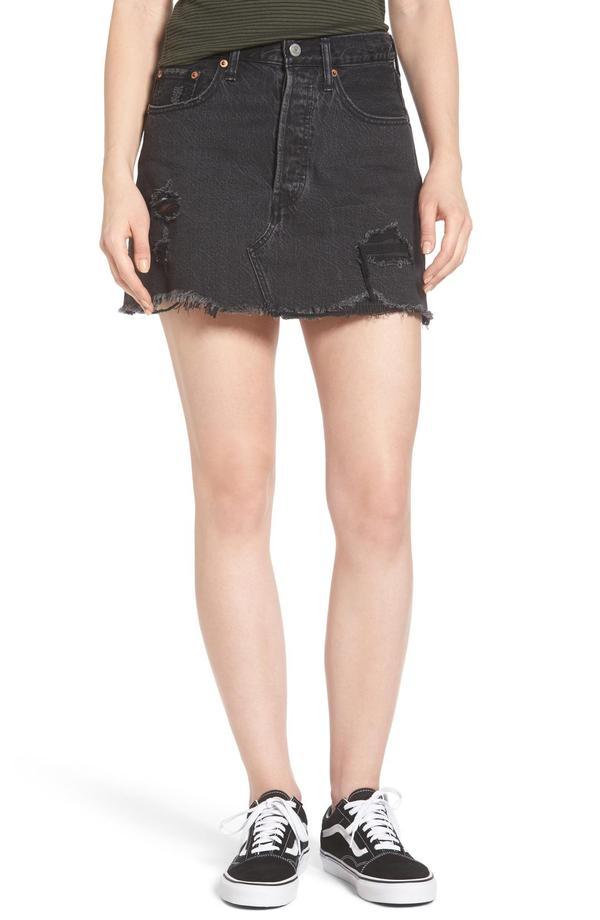 Women's Levi's Deconstructed Denim Skirt