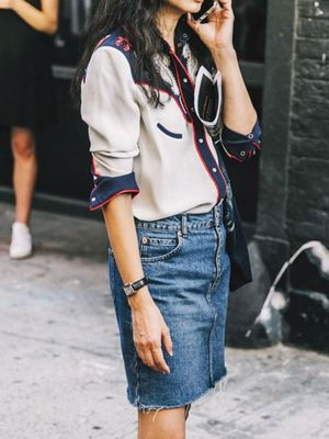 15 Fashion Girl–Approved Denim Skirts