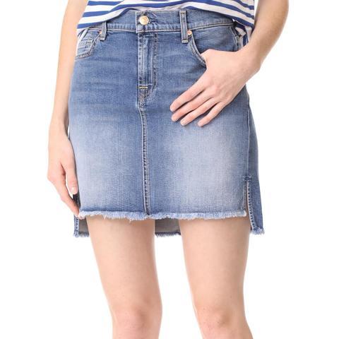 Skirt With Step Hem