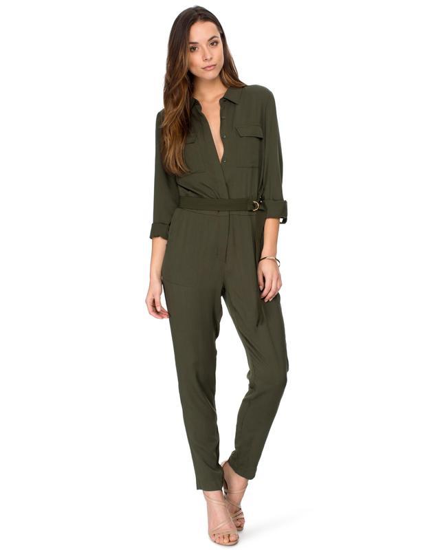 Kardashian Kollection Military Jumpsuit