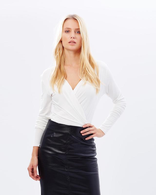 Kardashian Kollection Long Sleeve Jersey Top