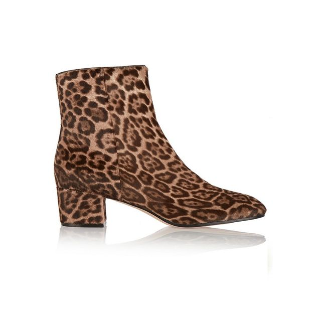 Gianvito Rossi Leopard Print Calf Hair Boots