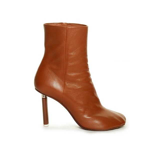 Vetements Toe Detail Leather Boots