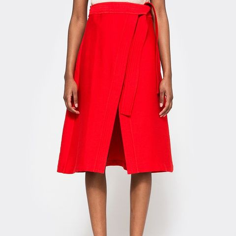 Break Even Skirt In Scarlet