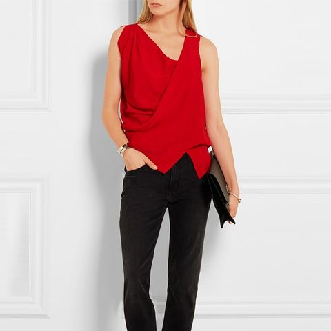 Anglomania Tine Draped Crepe Top