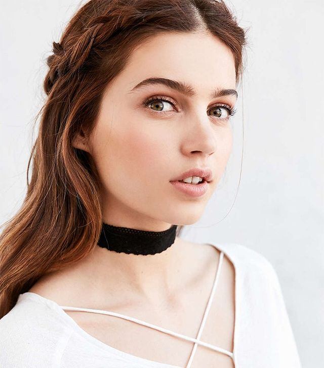 Urban Outfitters Maddison Wide Fabric Choker Necklace