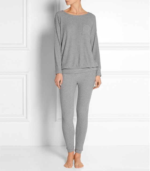 Eberjey Cozy Rib Stretch Top ($95) and Pants ($75)