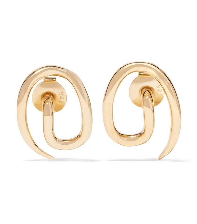 Charlotte Chesnais Whirl Gold-Plated Earrings
