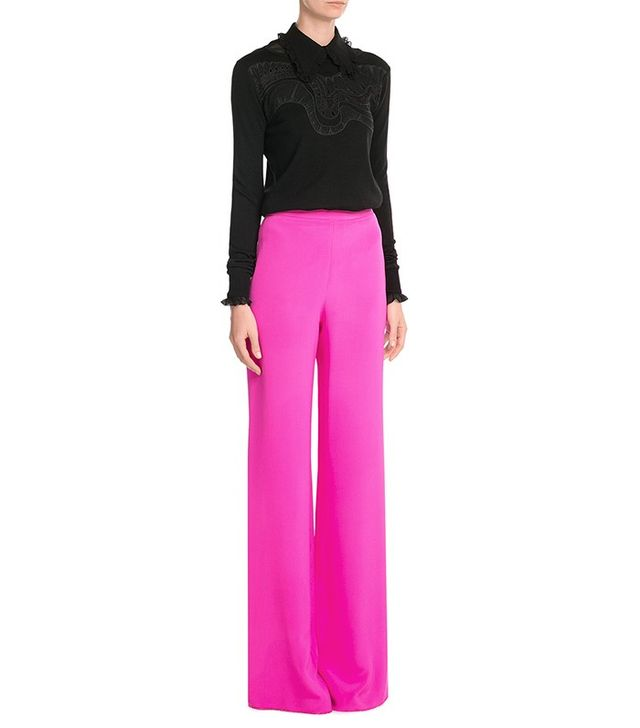 Emilio Pucci Wide Leg Silk Trousers