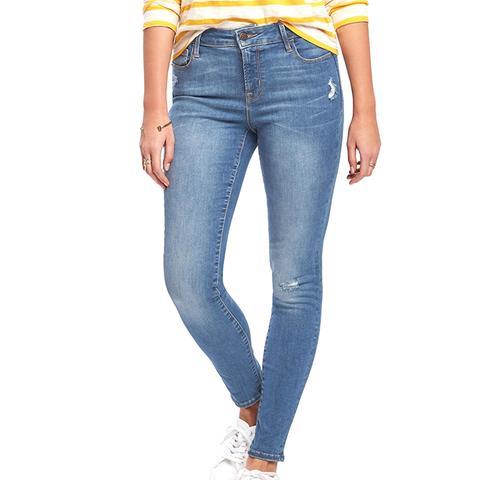 Mid-Rise Distressed Rockstar Jeans