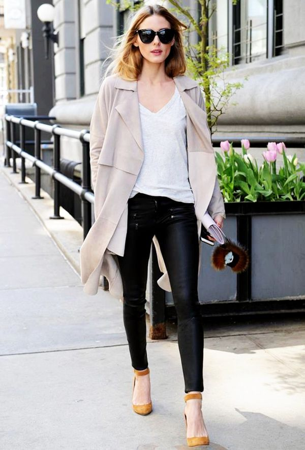 Olivia Palermo wearing Old Navy tee