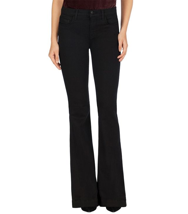 J Brand Maria Flare in Seriously Black