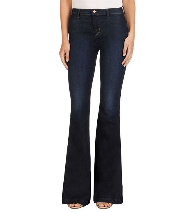 J Brand Halle High Rise Flare in Lawless