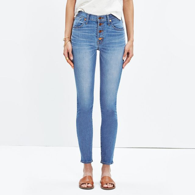 Madewell High-Rise Skinny Crop Jeans: Button-Through Edition