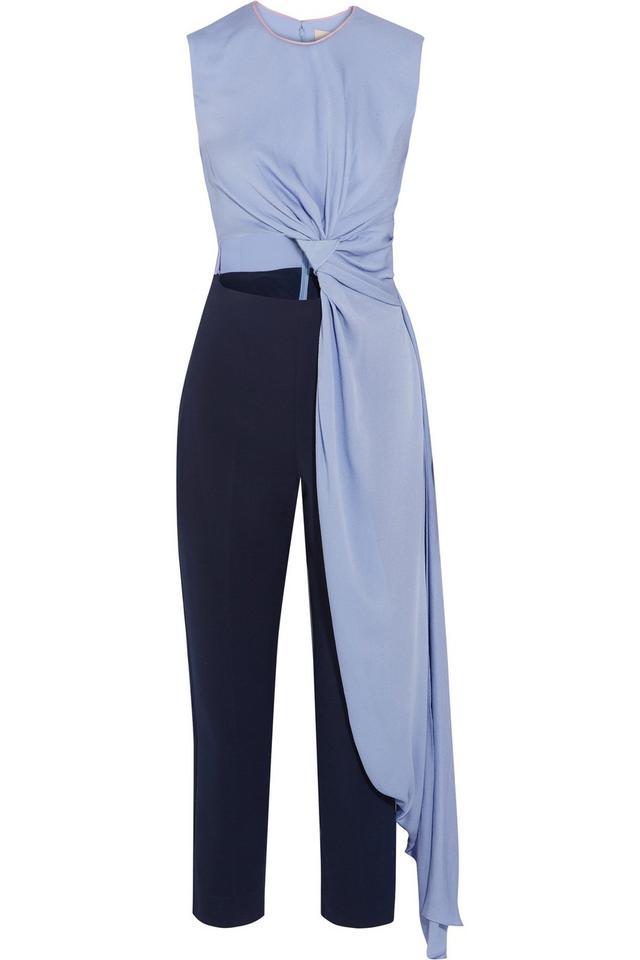 Roksanda Thurloe Draped Cutout Jumpsuit