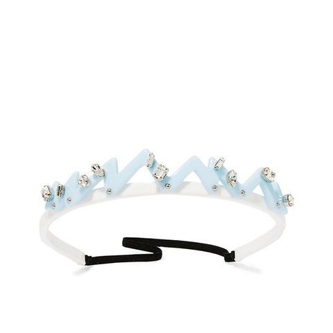 Swarovski Crystal- and Stud-Embellished Perspex Headband