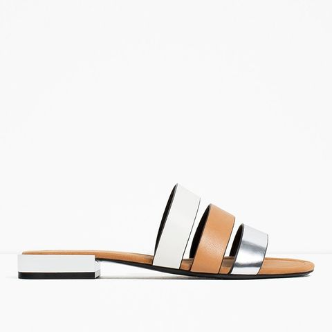 Flat Shoes With Metal Heel Detail