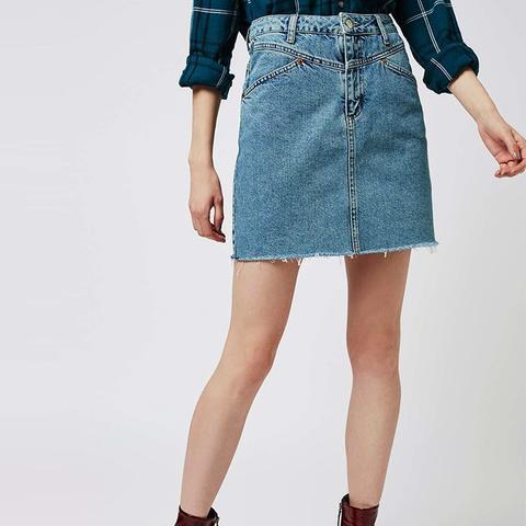 Moto '80s High-Waisted Skirt