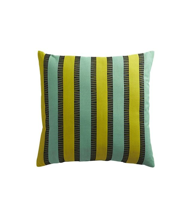 CB2 Izmir Chartreuse-Aqua Outdoor Pillow
