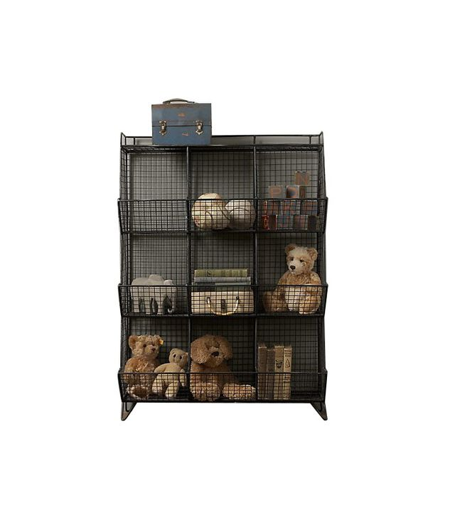 RH Baby & Child Industrial Wire 9 Cubby Storage