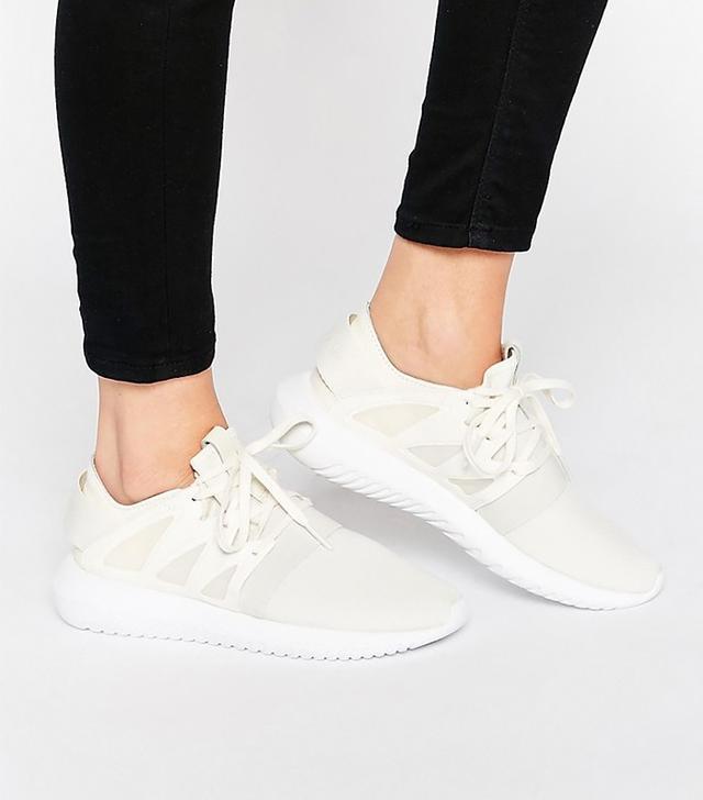 Adidas Originals Chalk White Tubular Viral Sneakers