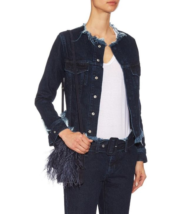 Marques'Almeida Indigo Collarless Jacket