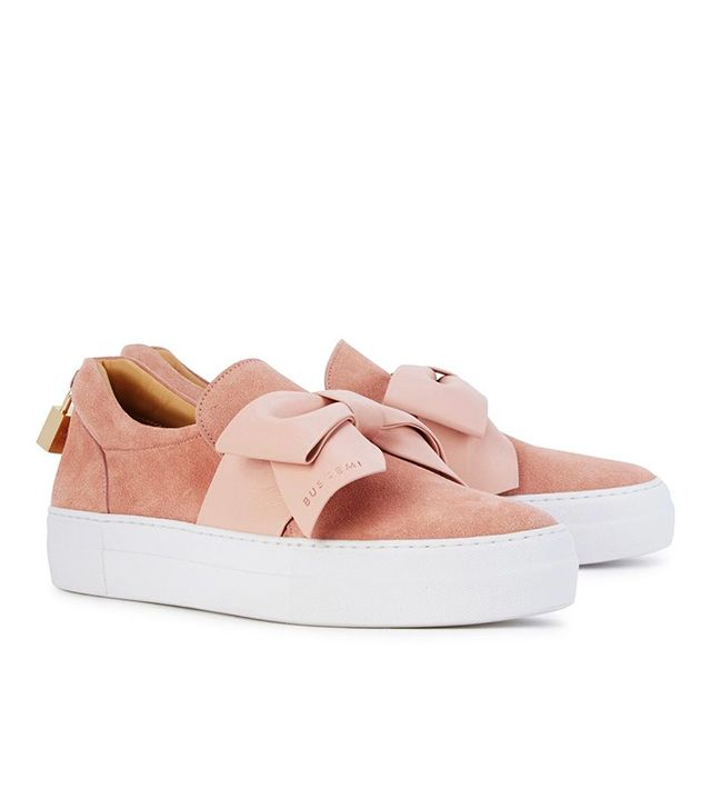 Buscemi 40mm Pink Suede Skate Shoes