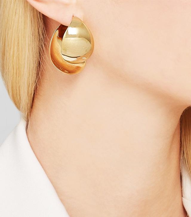 Charlotte Chesnais Petal Gold Plated Earrings