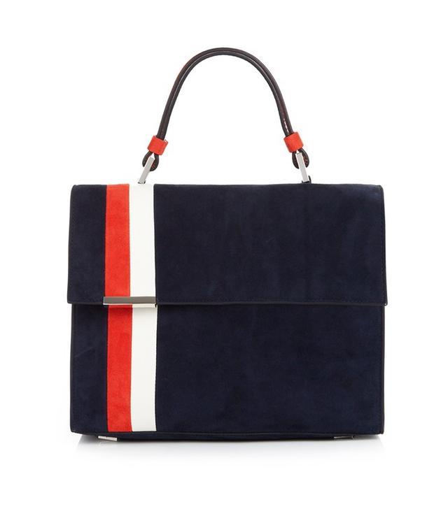 Tomasini Paris Striped Suede Bag
