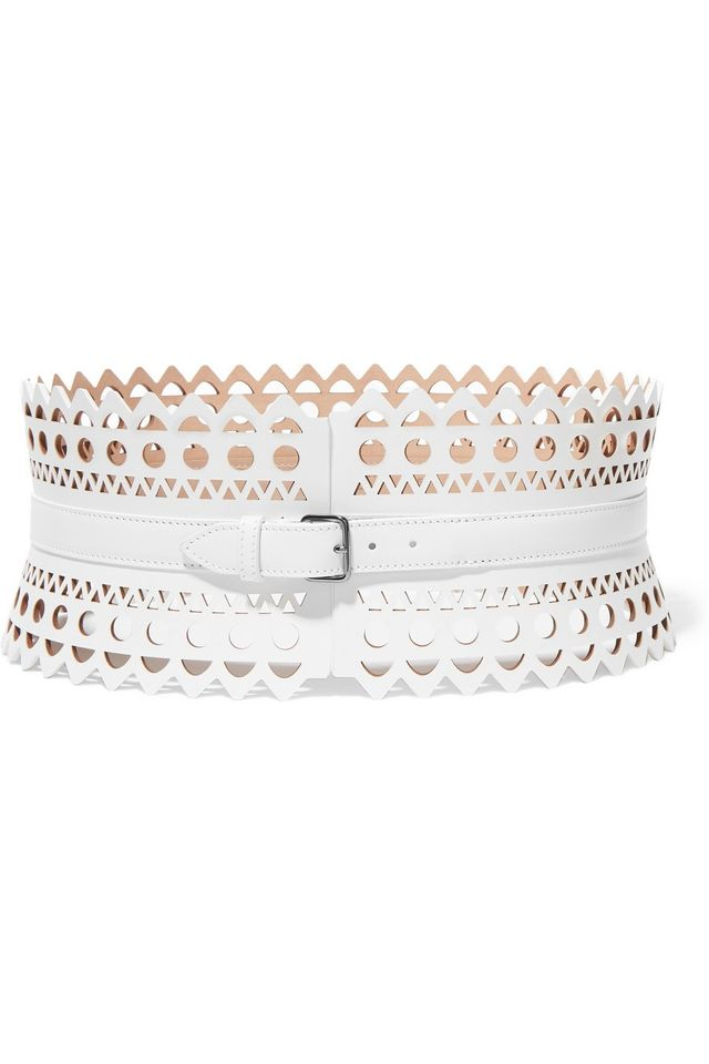 Alaia Vienne Laser-Cut Leather Waist