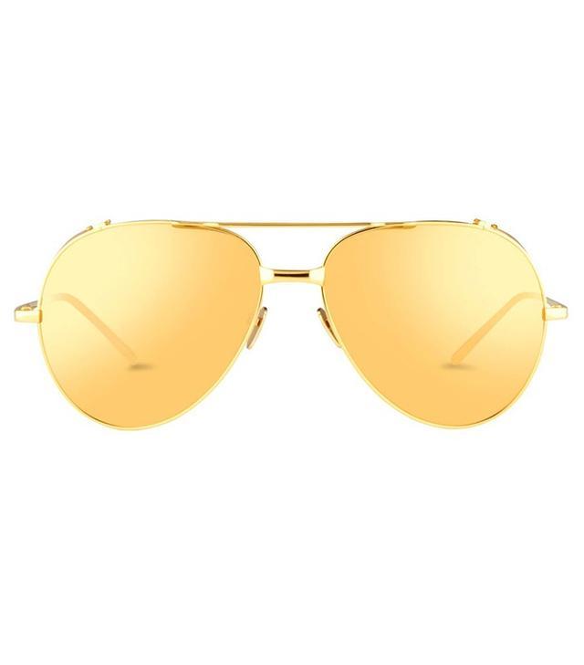 Linda Farrow 426 C I Aviator Sunglasses