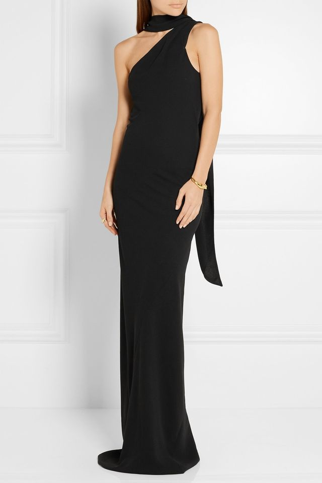 Gareth Pugh One-Shoulder Crepe Gown