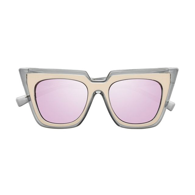 Self Portrait x Le Specs Matte Blush Crystal Sunglasses