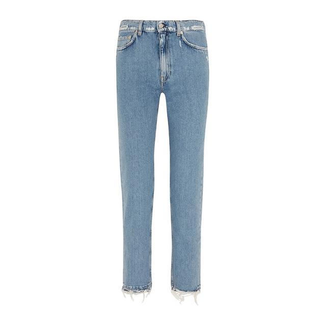 Acne Studios Distressed Mid Rise Slim Boyfriend Jeans