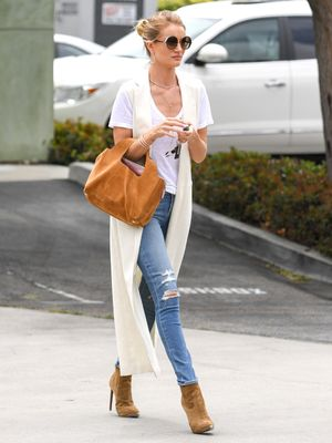 Rosie Huntington-Whiteley Heads to Work in a Casual $68K Worth of Diamonds