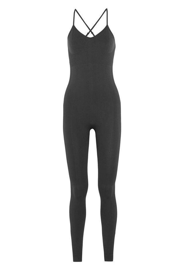Ivy Park Ribbed Stretch-Jersey Bodysuit