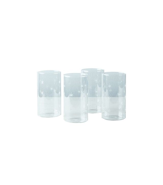 Borosil Etched Star Glass Tumblers (Set of 6)