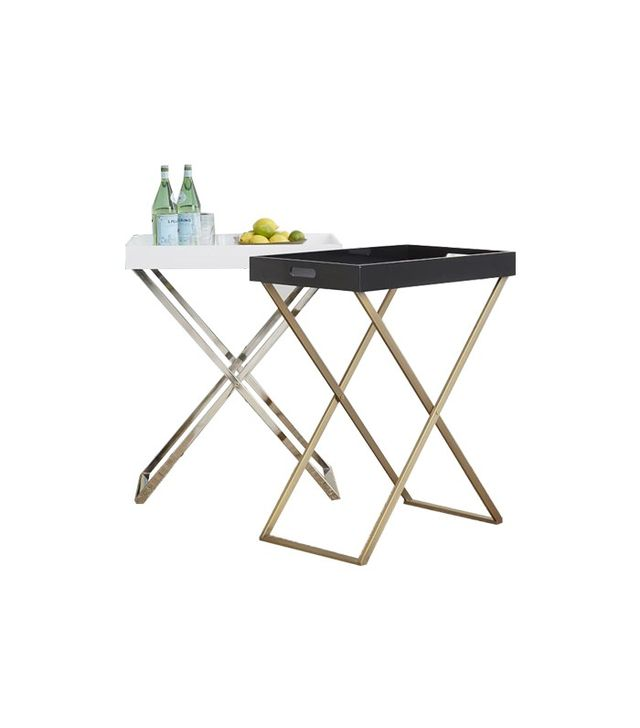 West Elm Tall Butler Tray Stand