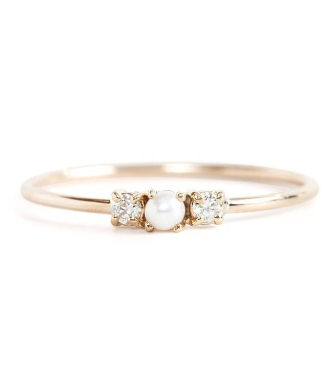 Jennie Kwon Pearl Sandwich Ring