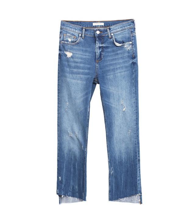 Zara Mid-Rise Bootcut Jeans