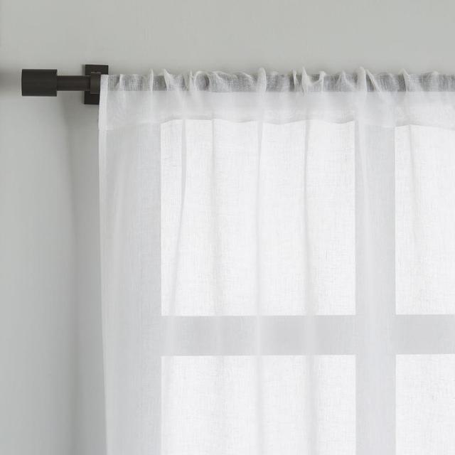 West Elm Sheer Linen Curtain - White