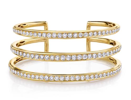 Anita Ko Three-Row Diamond Cuff