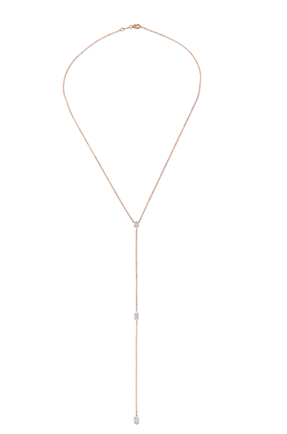 Anita Ko Pear and Double Marquis Diamond Lariat