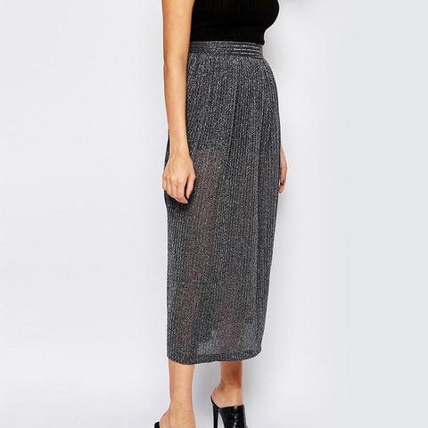 Midi Skirt in Flicker Rib