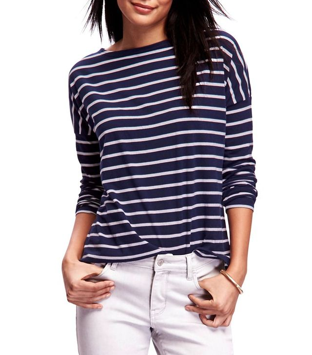 Old Navy Striped Boat-Neck Tee