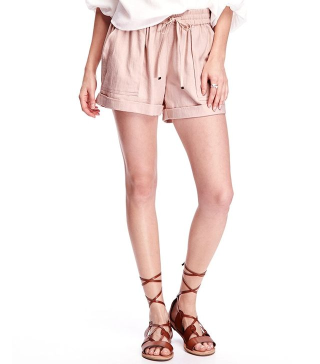 Old Navy Cuffed Linen Shorts