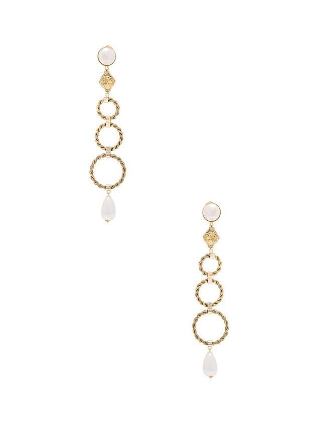 Alessandra Rich Pearl Ring Earrings